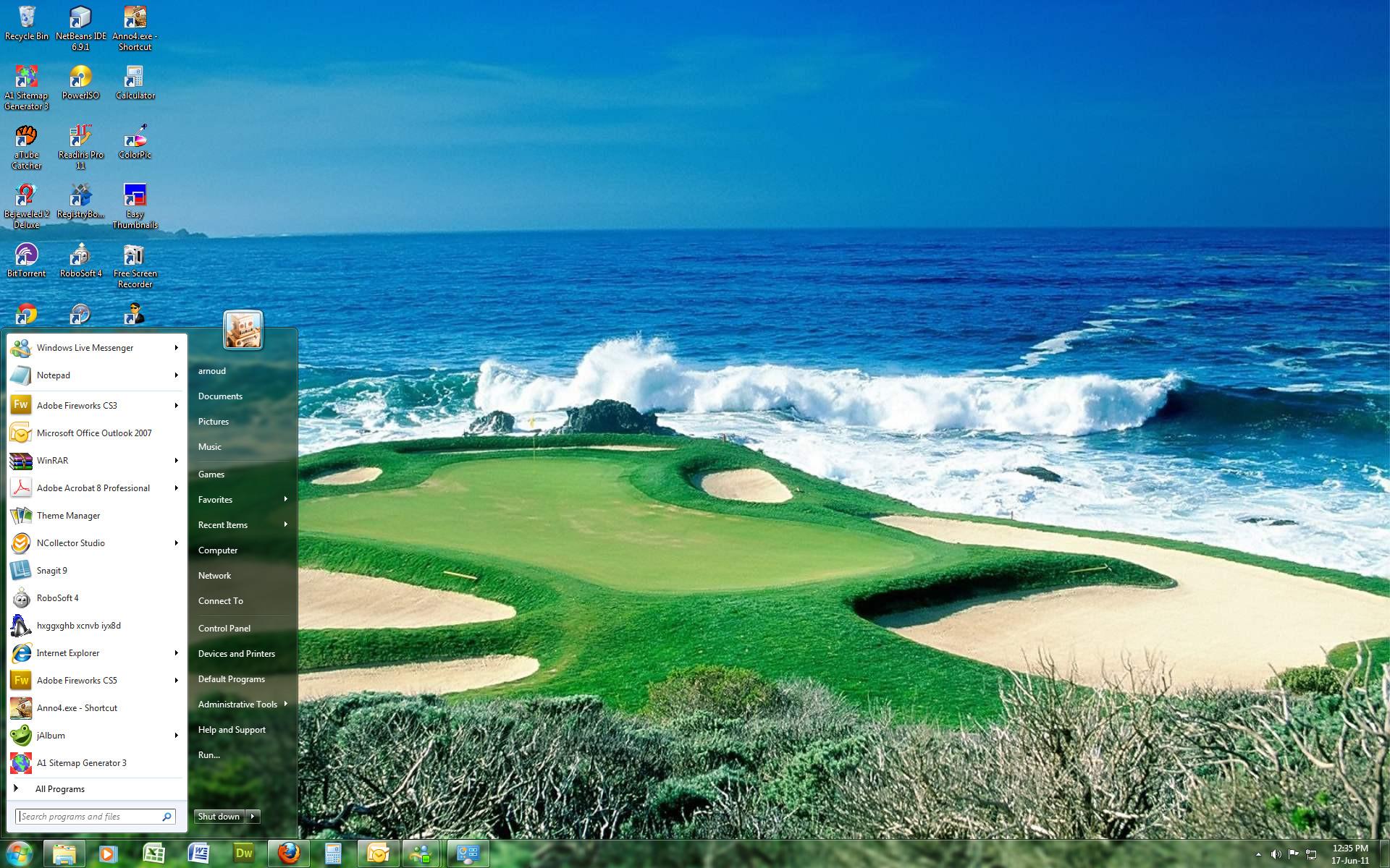 Windows 7 Themes   Windows 7 Theme – US Open Golf by *Windowsthememanager  on deviantART