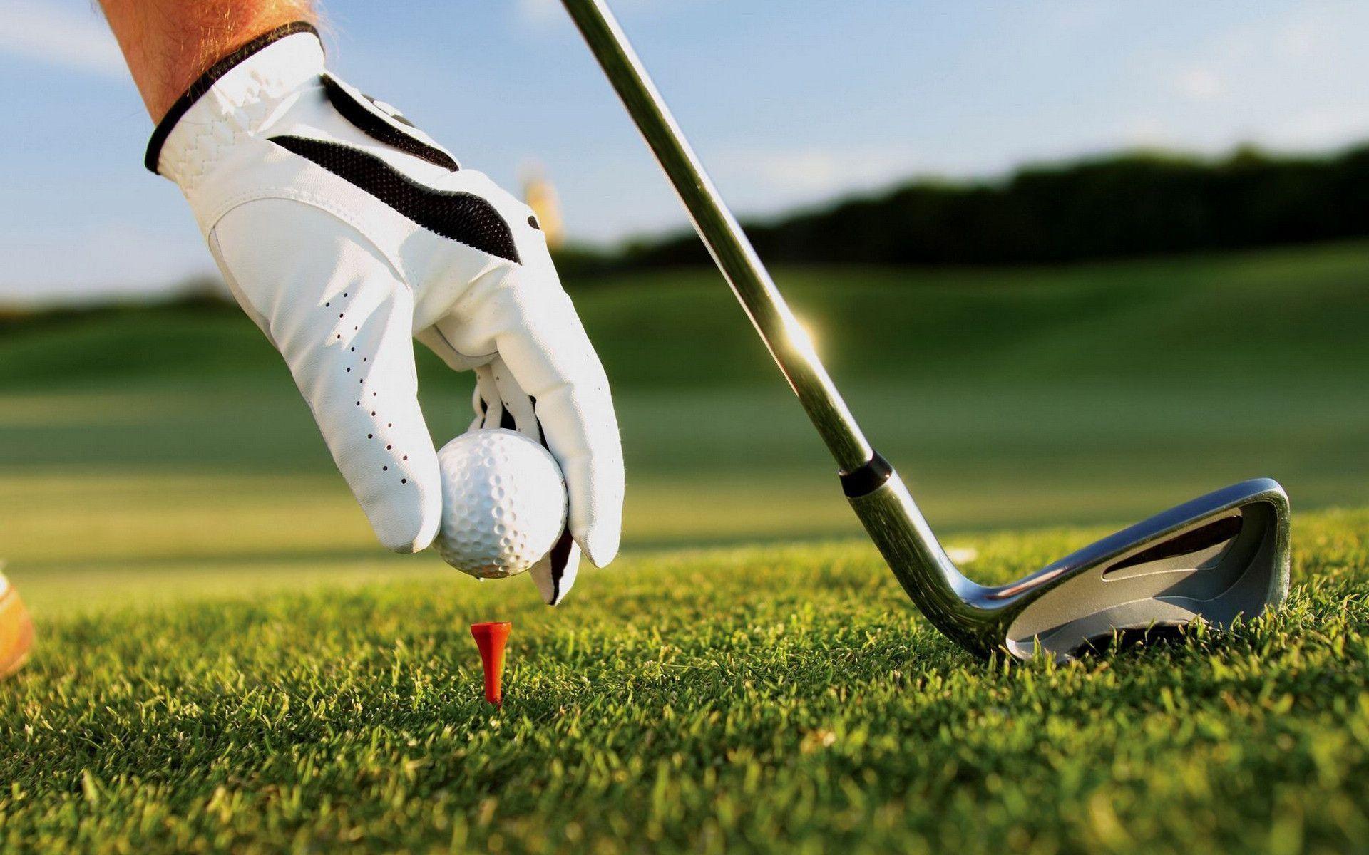 Download wallpaper golf, ball, club, grass free desktop wallpaper .