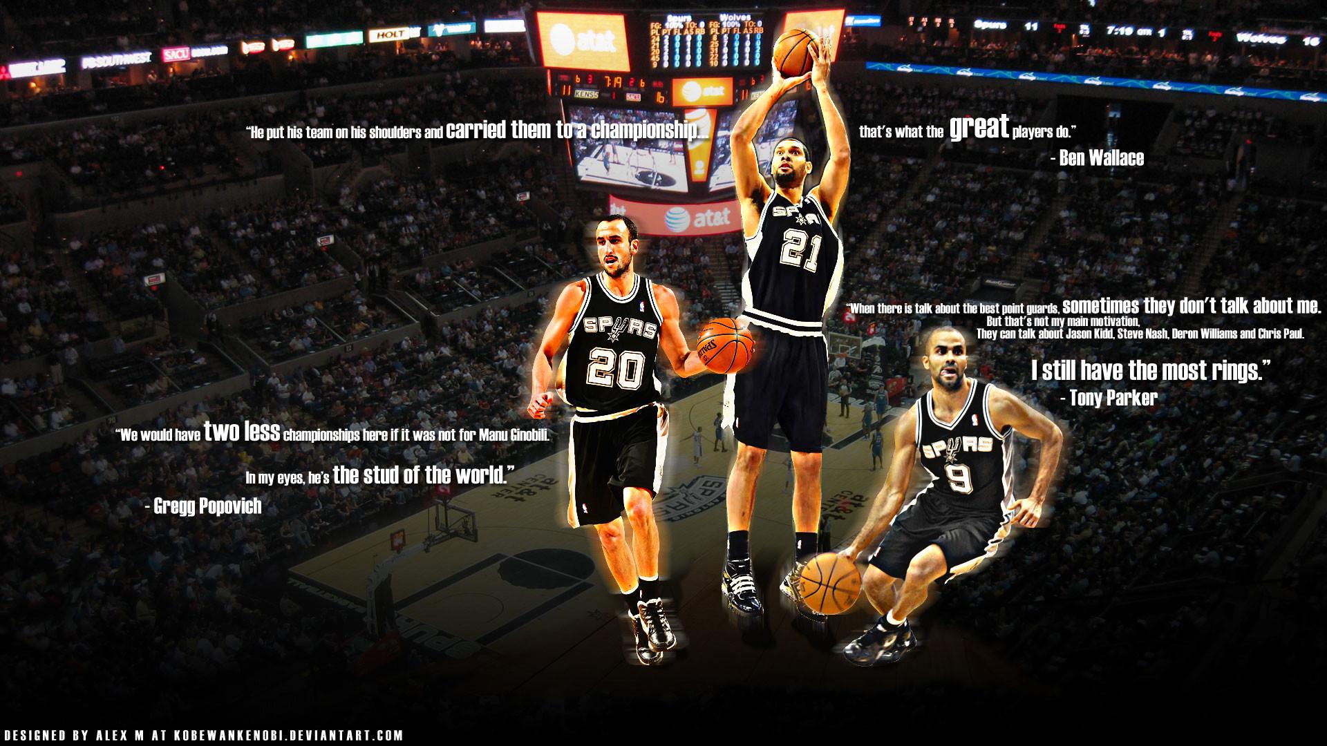 Spurs Big Three Wallpaper