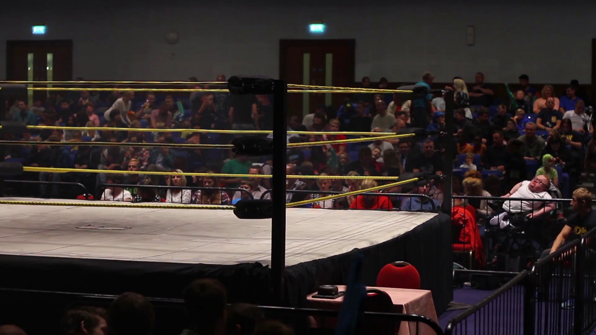 Empty Pro Wrestling Ring with Fans / Audience Stock Video Footage –  VideoBlocks