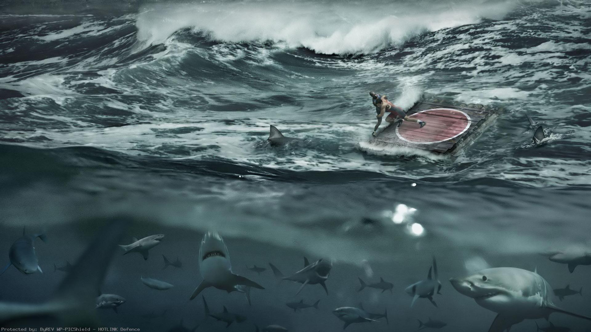 Wrestling-ring-water-ocean-shark1920x1080-via-Classy-Bro-