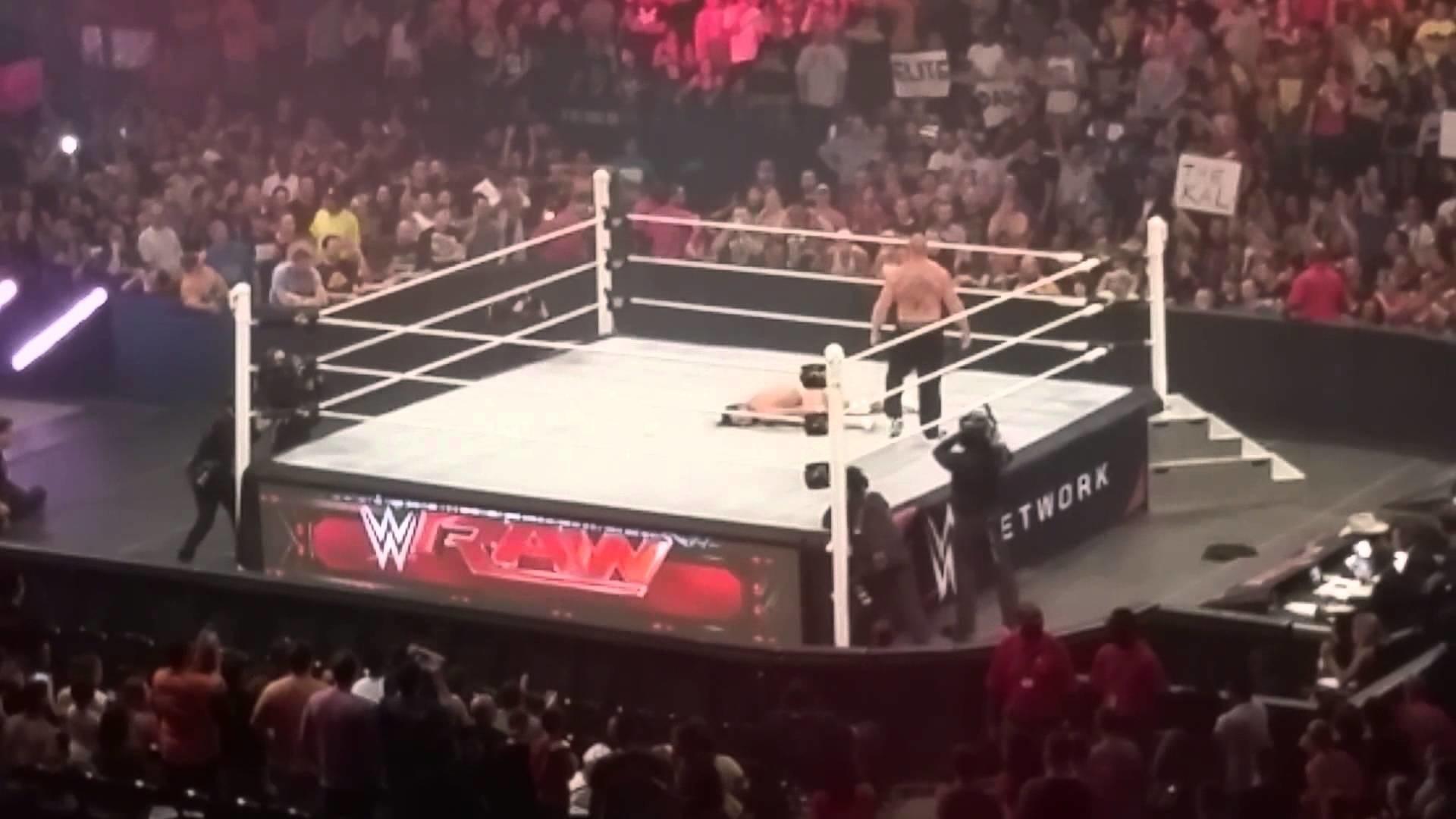 Bo Dallas dies in the ring by BROCK LESNAR