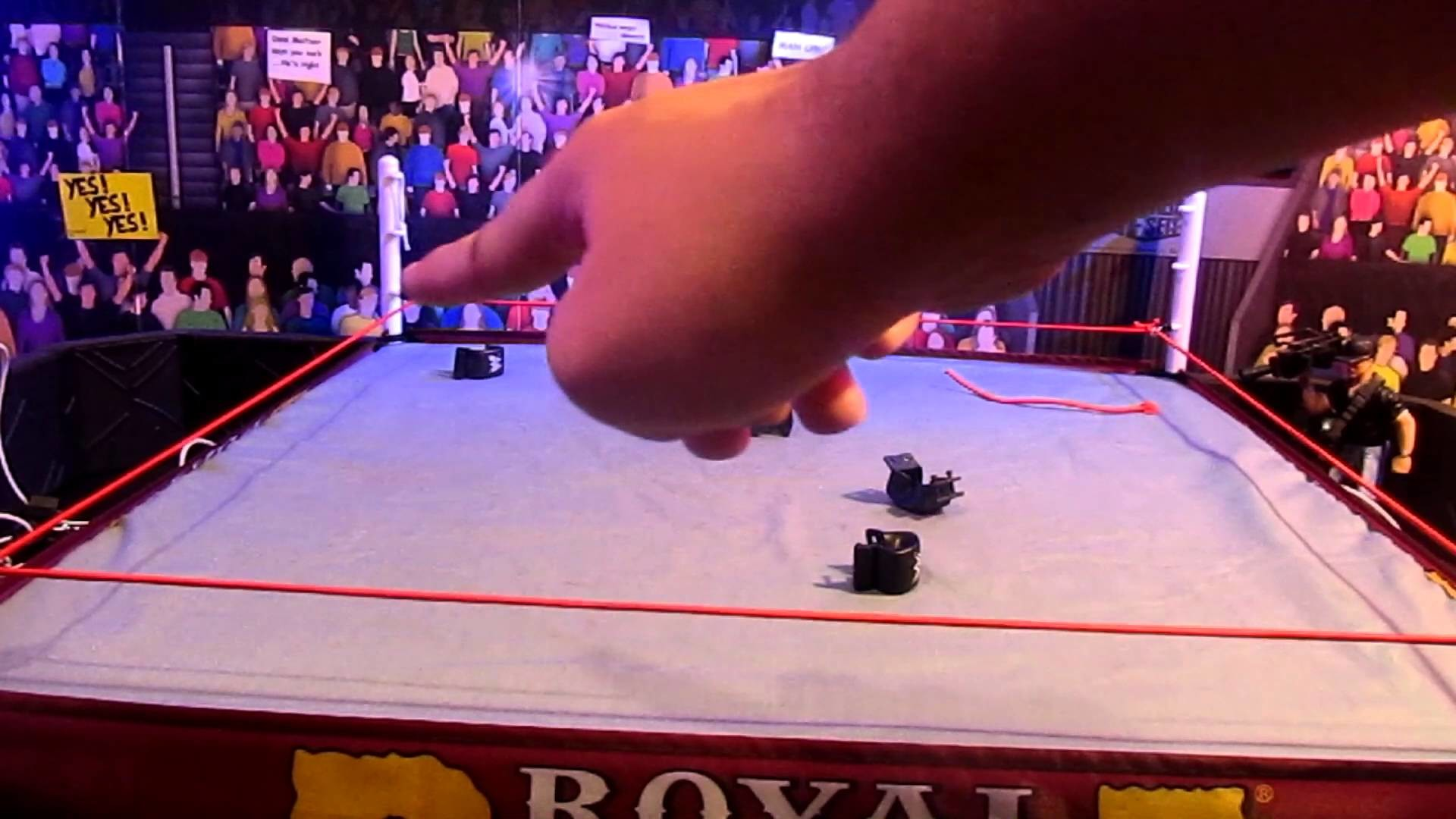 WWE Authentic Scale Wrestling Ring Rope tutorial