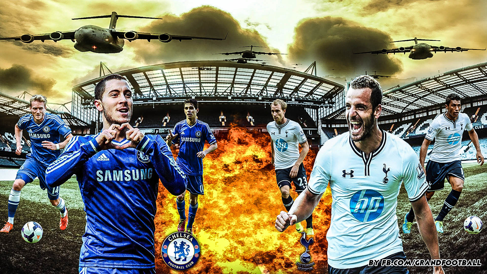 New wallpaper of Cheslea FC Vs Tottenham Hotspur by Yassine page facebook  here https:/