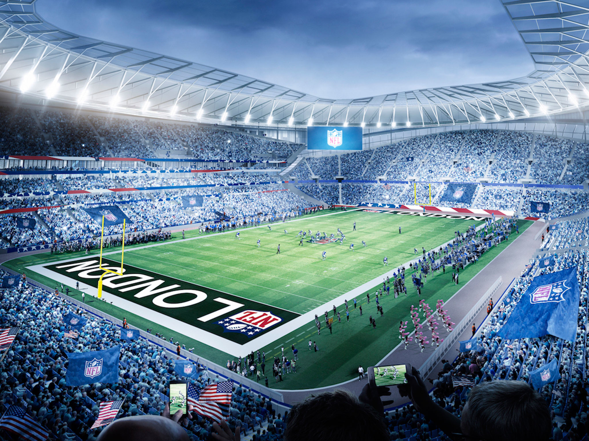 Tottenham stadium: Spurs reach 10-year agreement to host NFL games from  2018 as new ground will have large attendance than Arsenal   The Independent