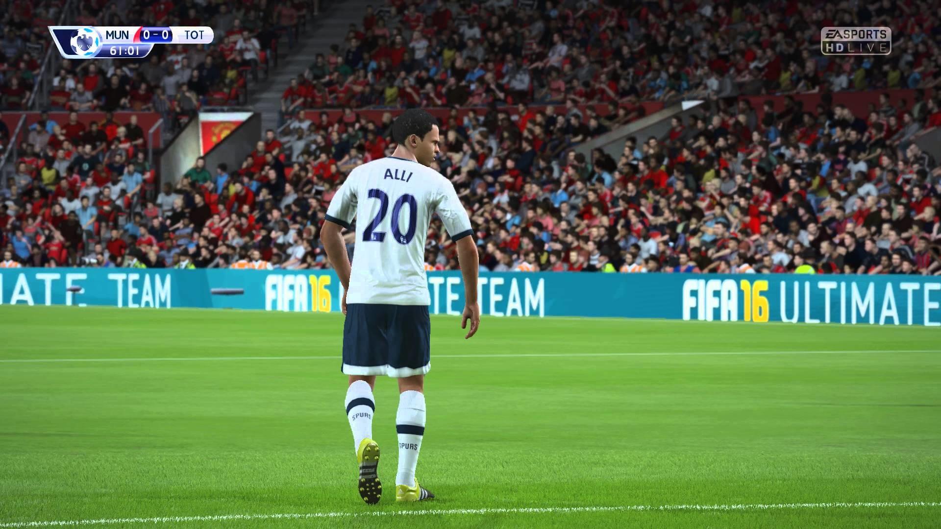 FIFA 16 – Manchester United vs. Tottenham Hotspur Premier League