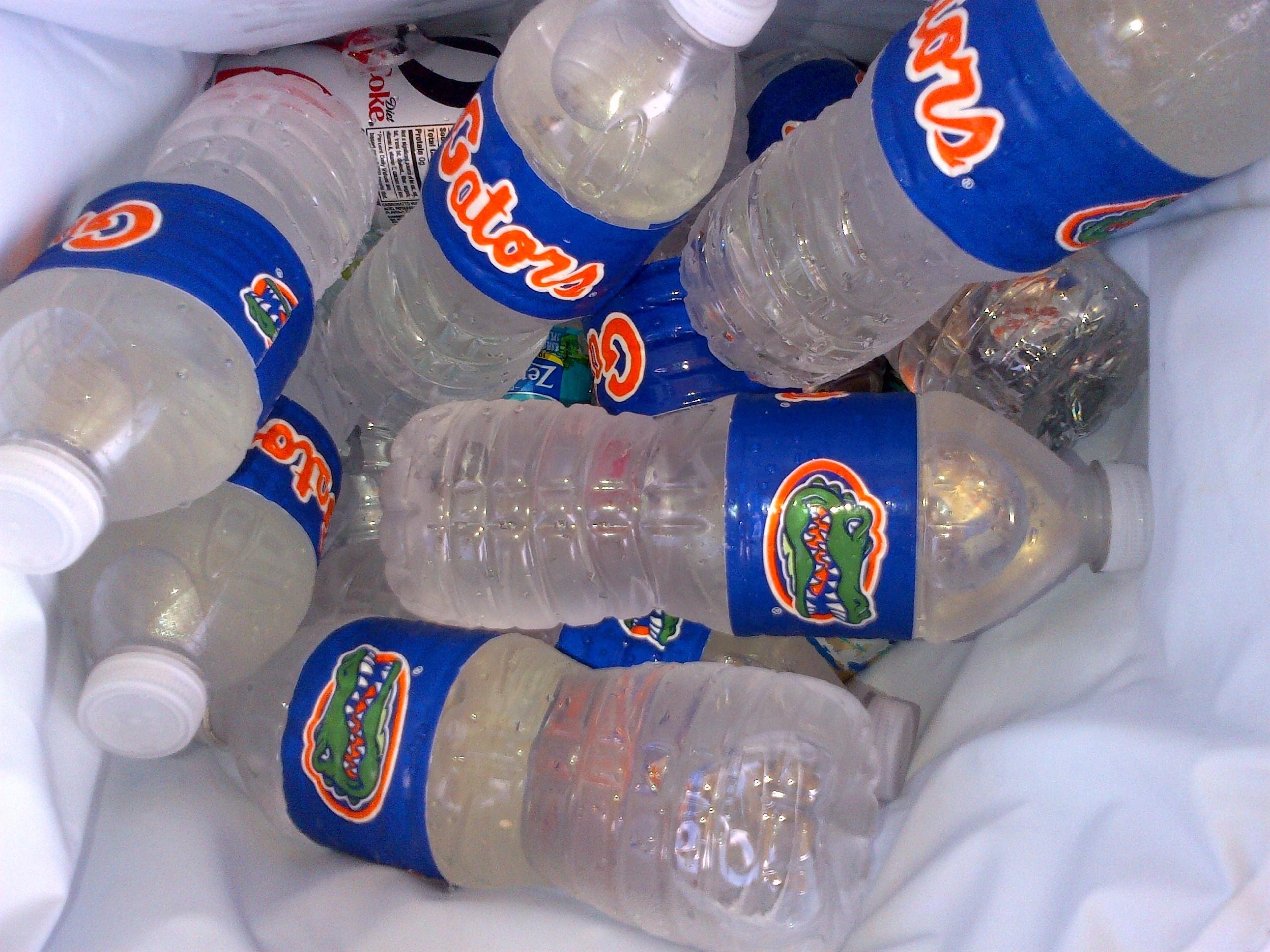 Florida Gator Water Bottles (made with duct tape)   University of Florida  TailGATOR  