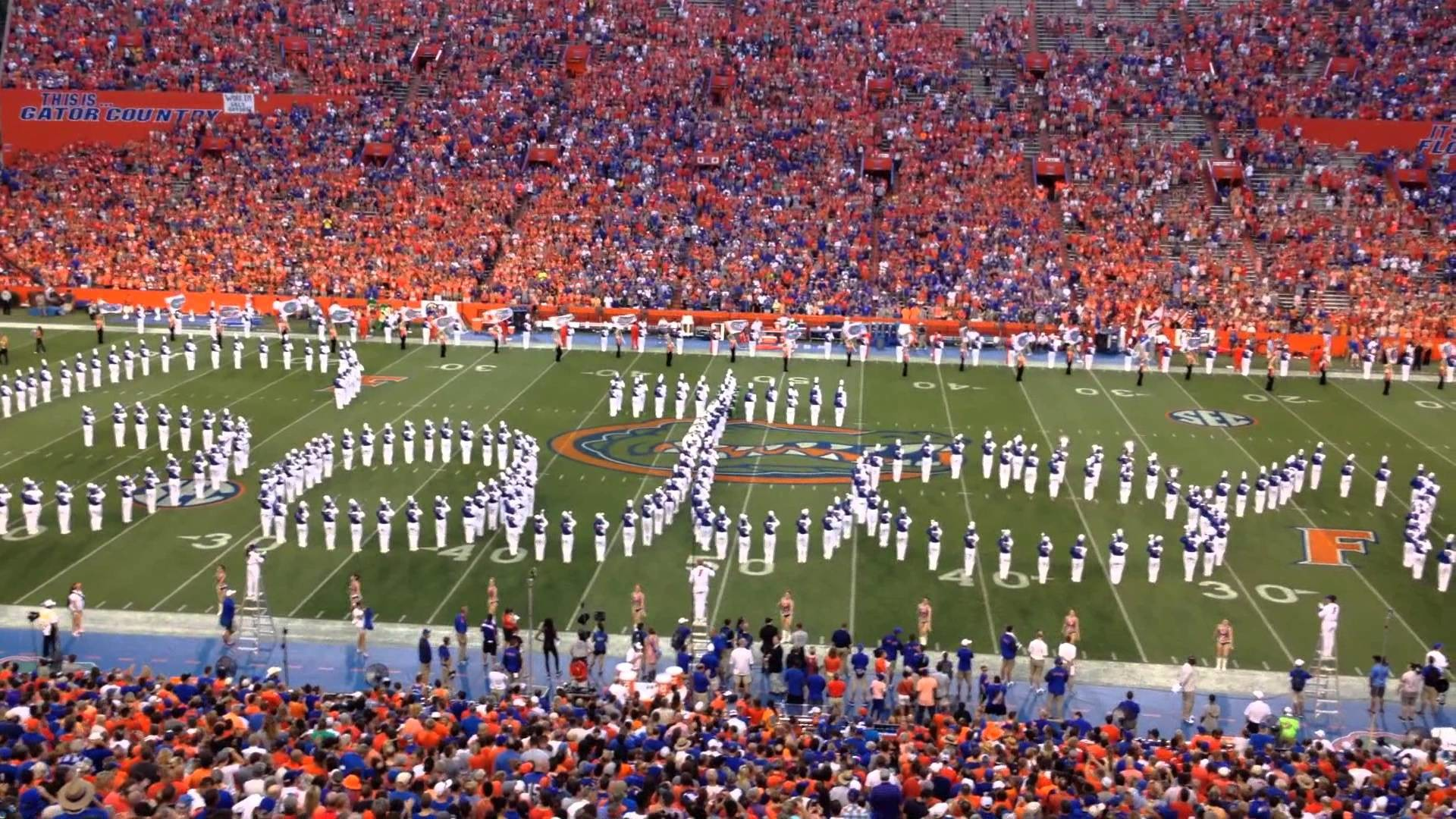 University of Florida – UF Marching Band 9/13/14 – Pre game Part 4 of 5 –  YouTube