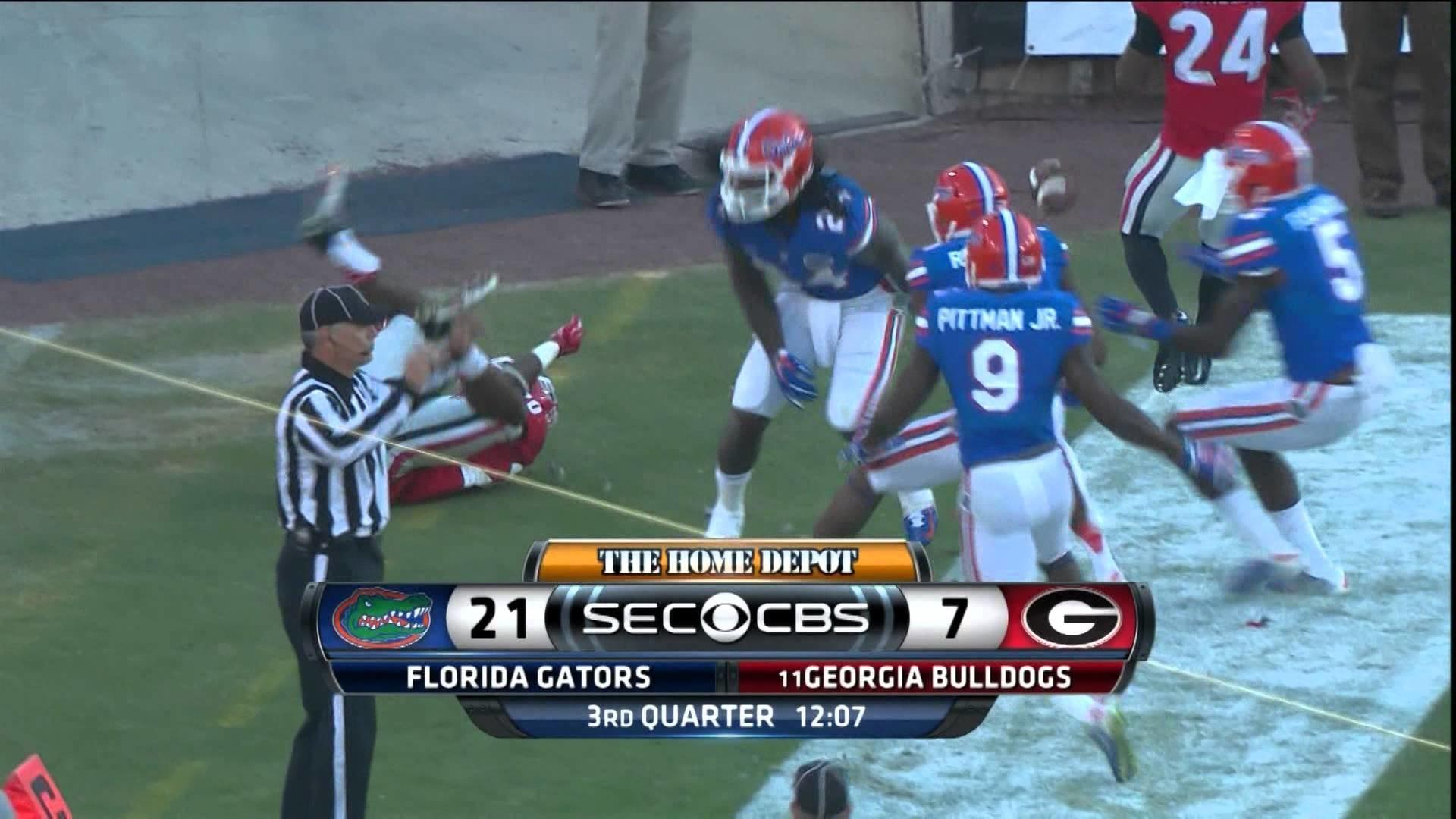 Florida Gators at #11 Georgia Bulldogs 2014 Full Game cfedit UF UGA –  YouTube