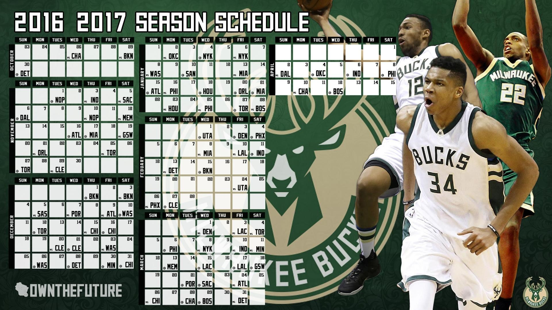 Bucks 2016-2017 season wallpaper …