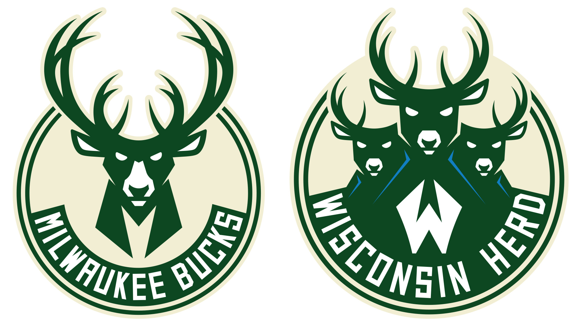The Wisconsin Herd identity utilizes the visual language of the Milwaukee  Bucks' recently updated brand, illustrating their connection to their  parent club …