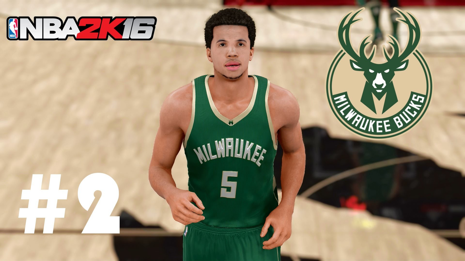 NBA 2K16 Milwaukee Bucks MyLeague | MCW Assist Master! | Episode 2 – YouTube