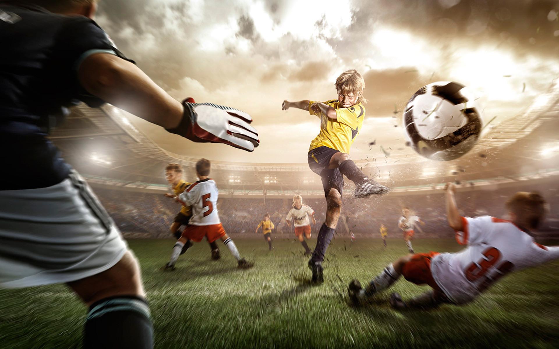 Playing Football Widescreen