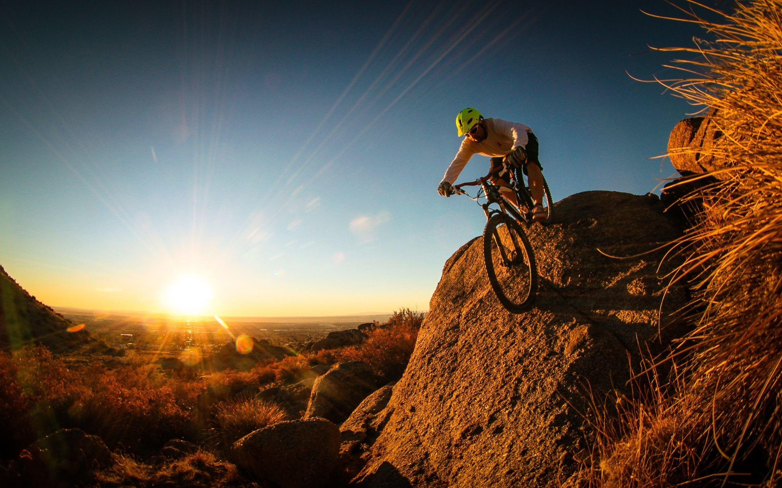 Mountain Cycling Extreme Sports Wallpaper
