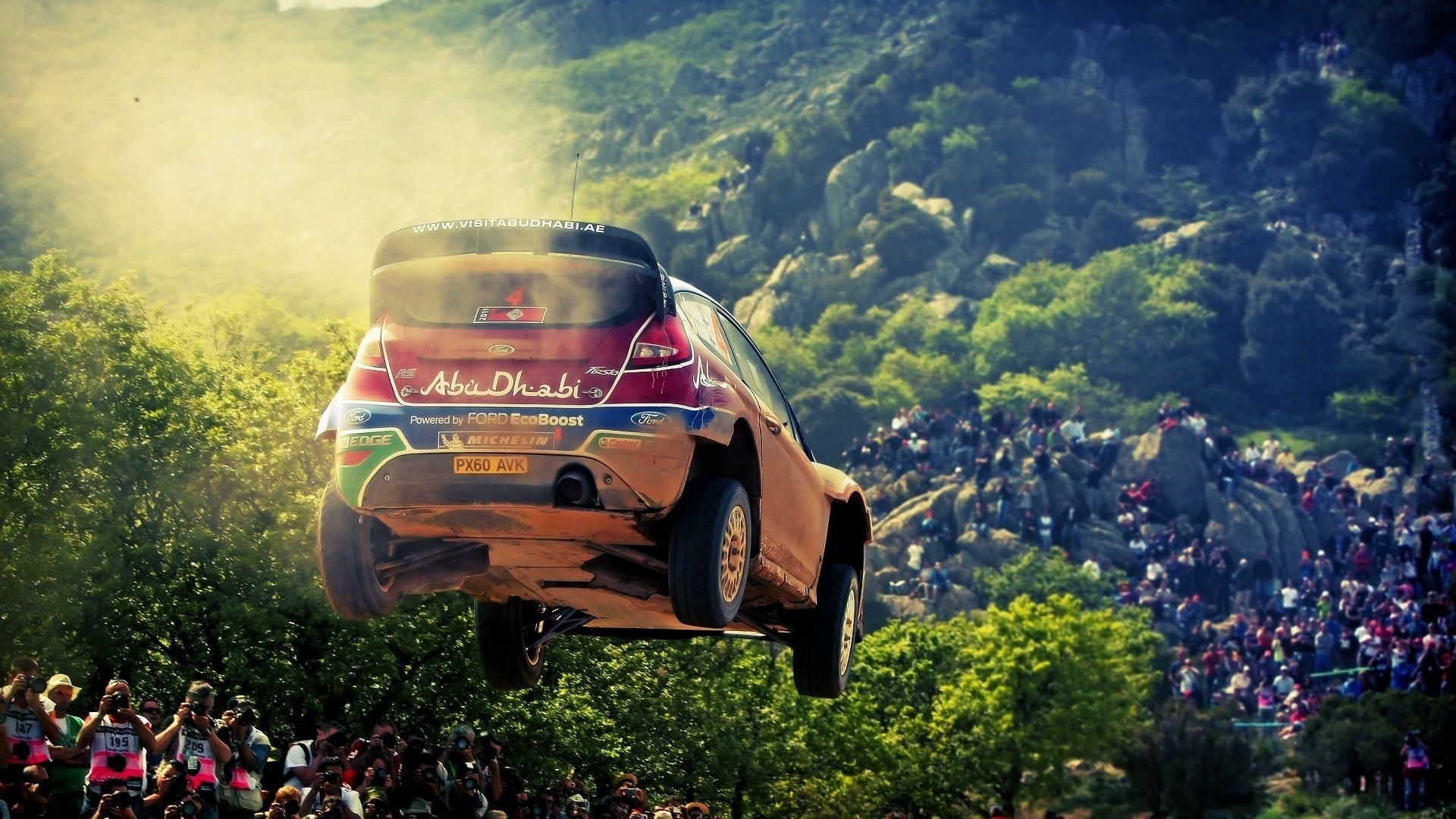 Preview wallpaper sports, race, rally, ford, abu-dhabi, sport 1920×1080