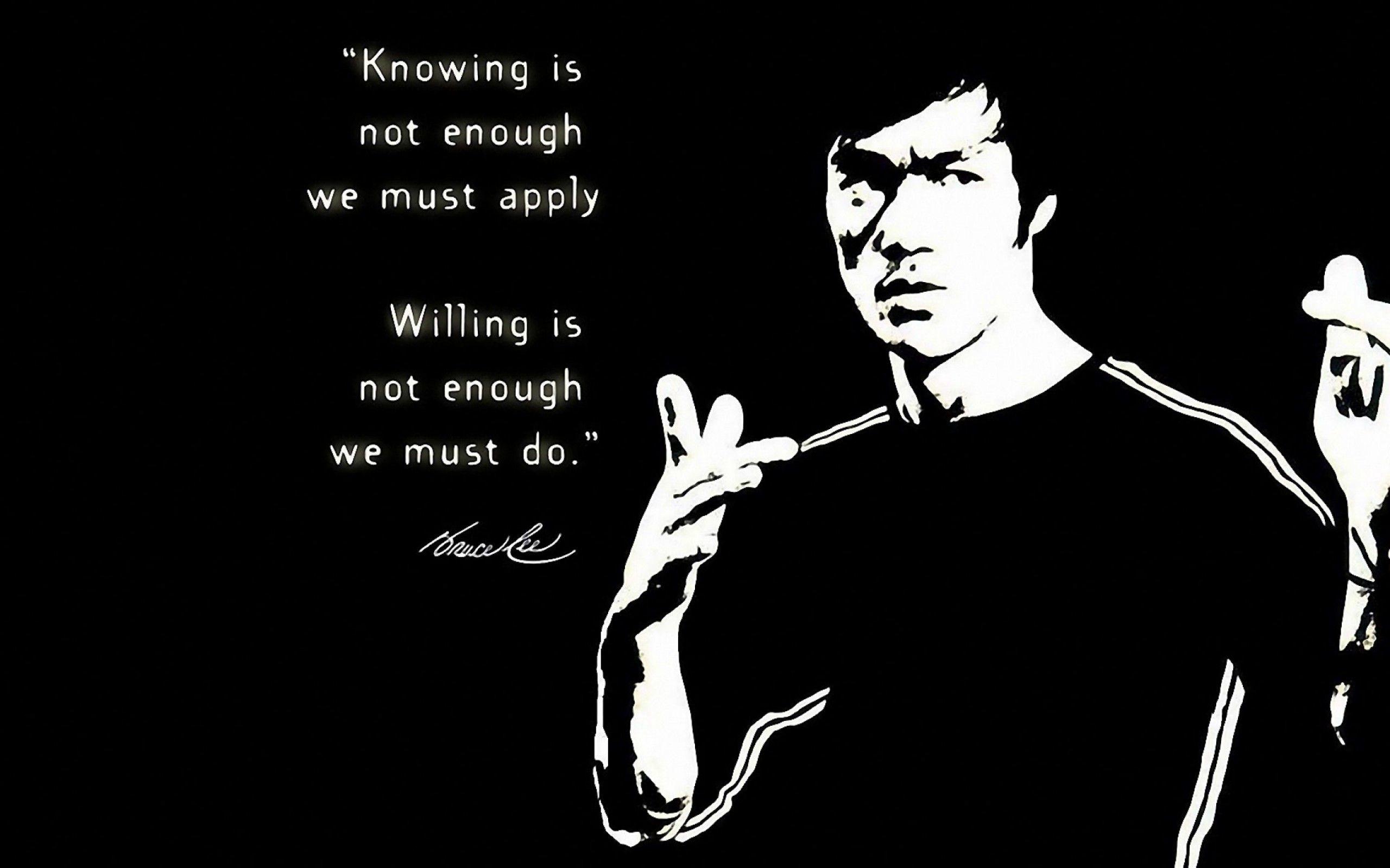 Bruce Lee Quotes Wallpaper HD #2802 Desktop Computer,Gadget And ..