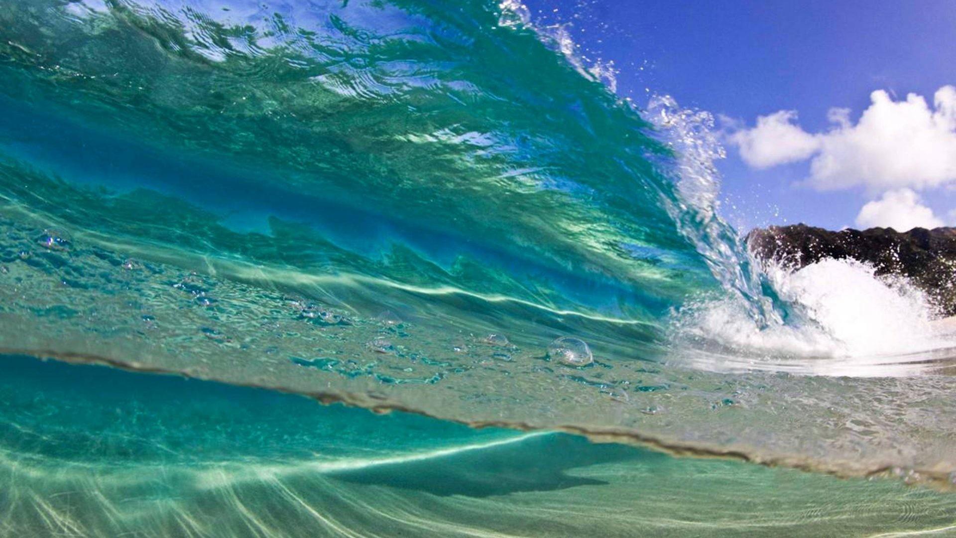 Surfer Tag – Aqua Wave Hawaiian Surfer Ocean Curl Polynesia Breakers Tide  Island Islands Sea Blue
