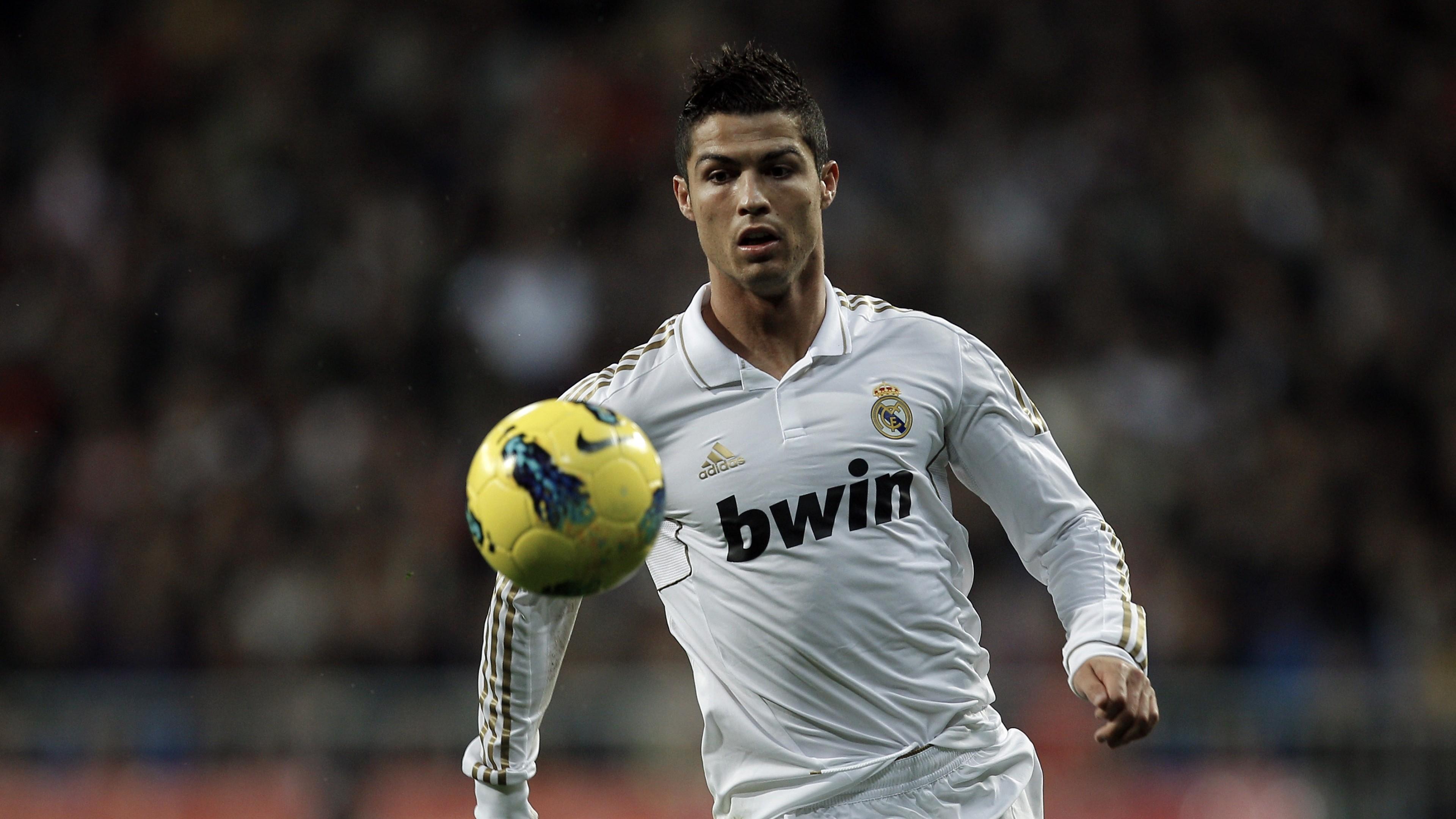 Preview wallpaper cristiano ronaldo, real madrid, football player, ball,  football 3840×2160