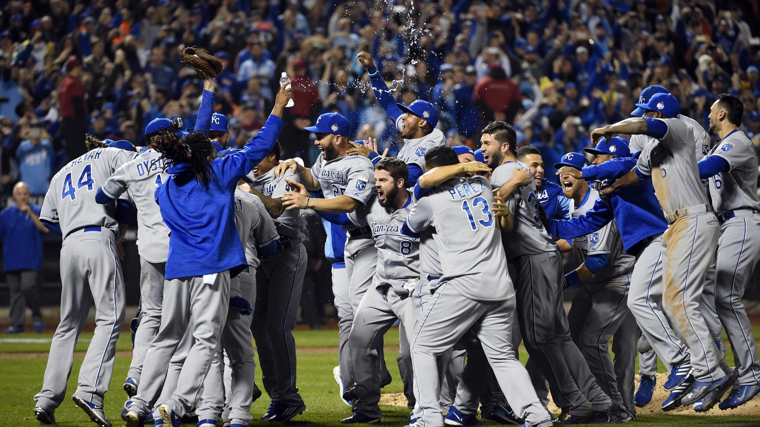 Kansas City Royals, Mlb, Sports, Kansas City Royals Team Champions  Celebrations, Baseball