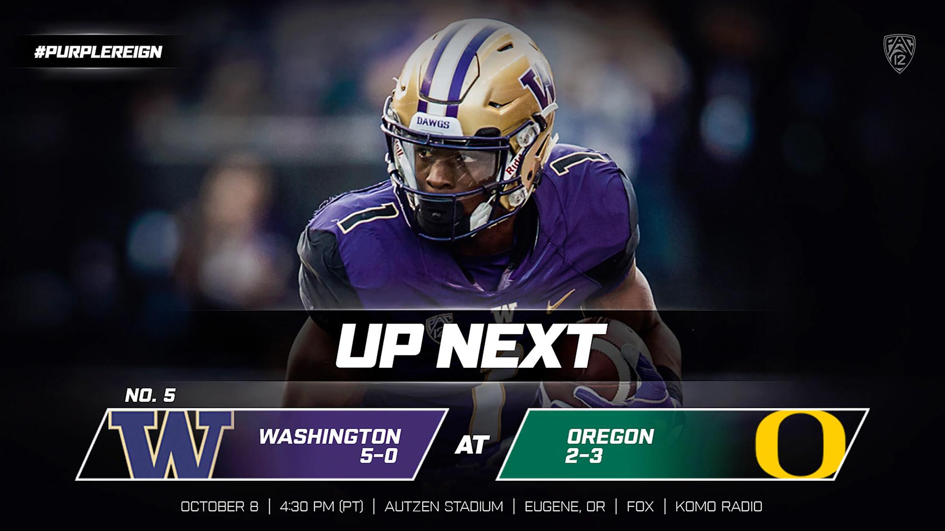 No. 5 Dawgs Head South To Face Oregon