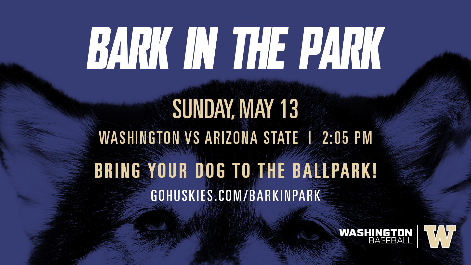 Washington Baseball // Bark in the Park // Sunday, April 24, 2016. Husky  Ballpark Washington vs St. Mary's // 1:00 PM