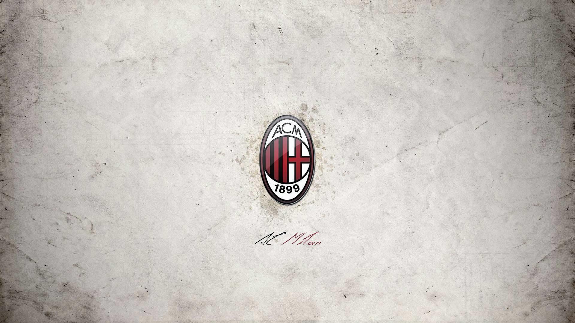 High Resolution AC Milan Logo Wallpaper HD Picture For Desktop .