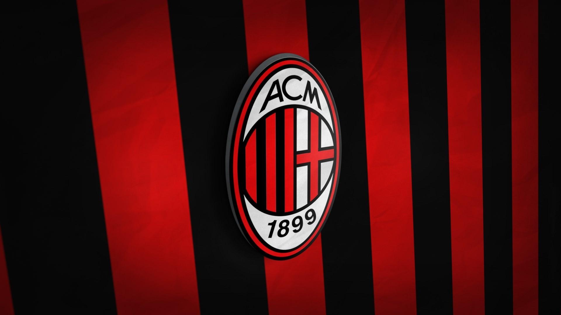 acmilan 3d logo football background hd