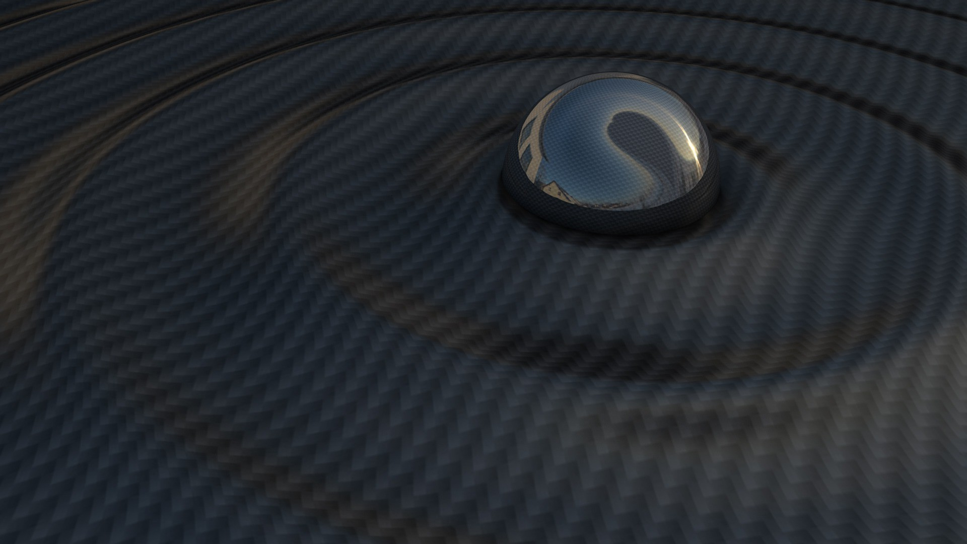 A high-res, blue carbon fiber pattern / texture that you can apply .