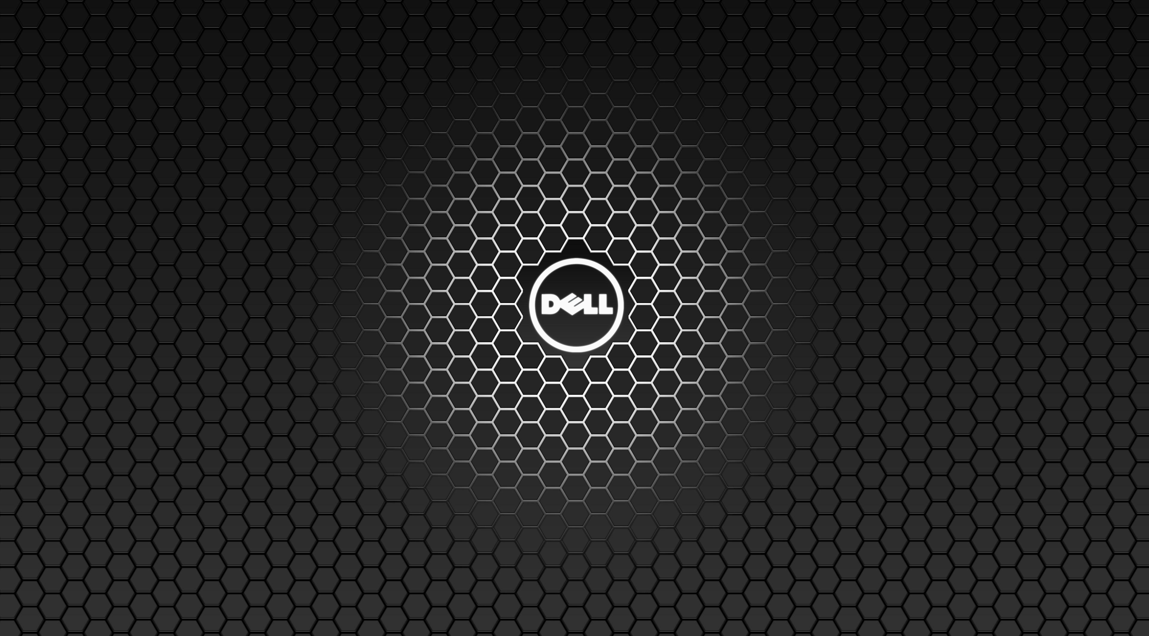 Technology – Dell Black Hexagon Wallpaper