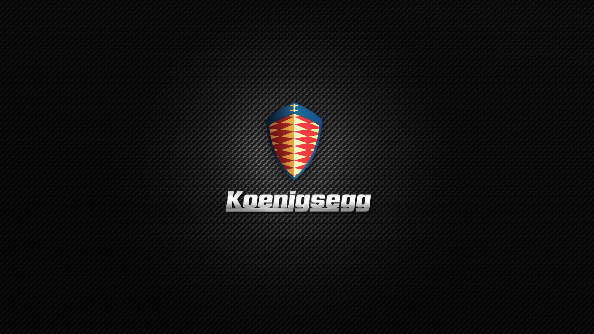 Koenigsegg Logo Carbon Fiber HD Wallpaper
