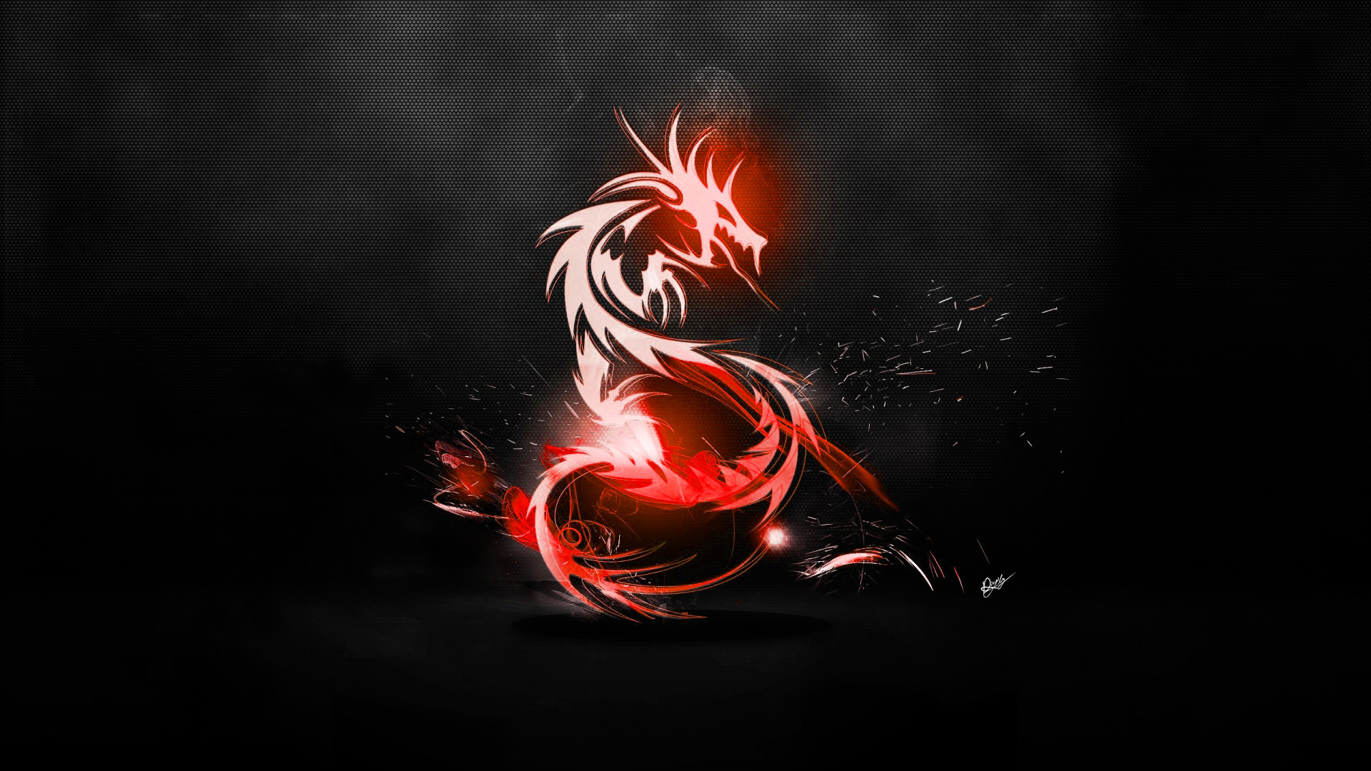 Abstract Dragon Wallpaper (Red/Carbon fibre black) by maciekporebski .