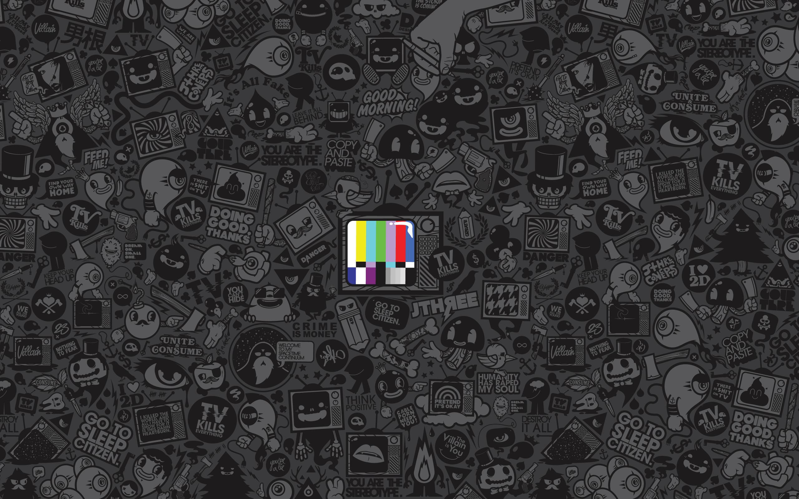 … TV kills HD Wallpaper 2560×1600