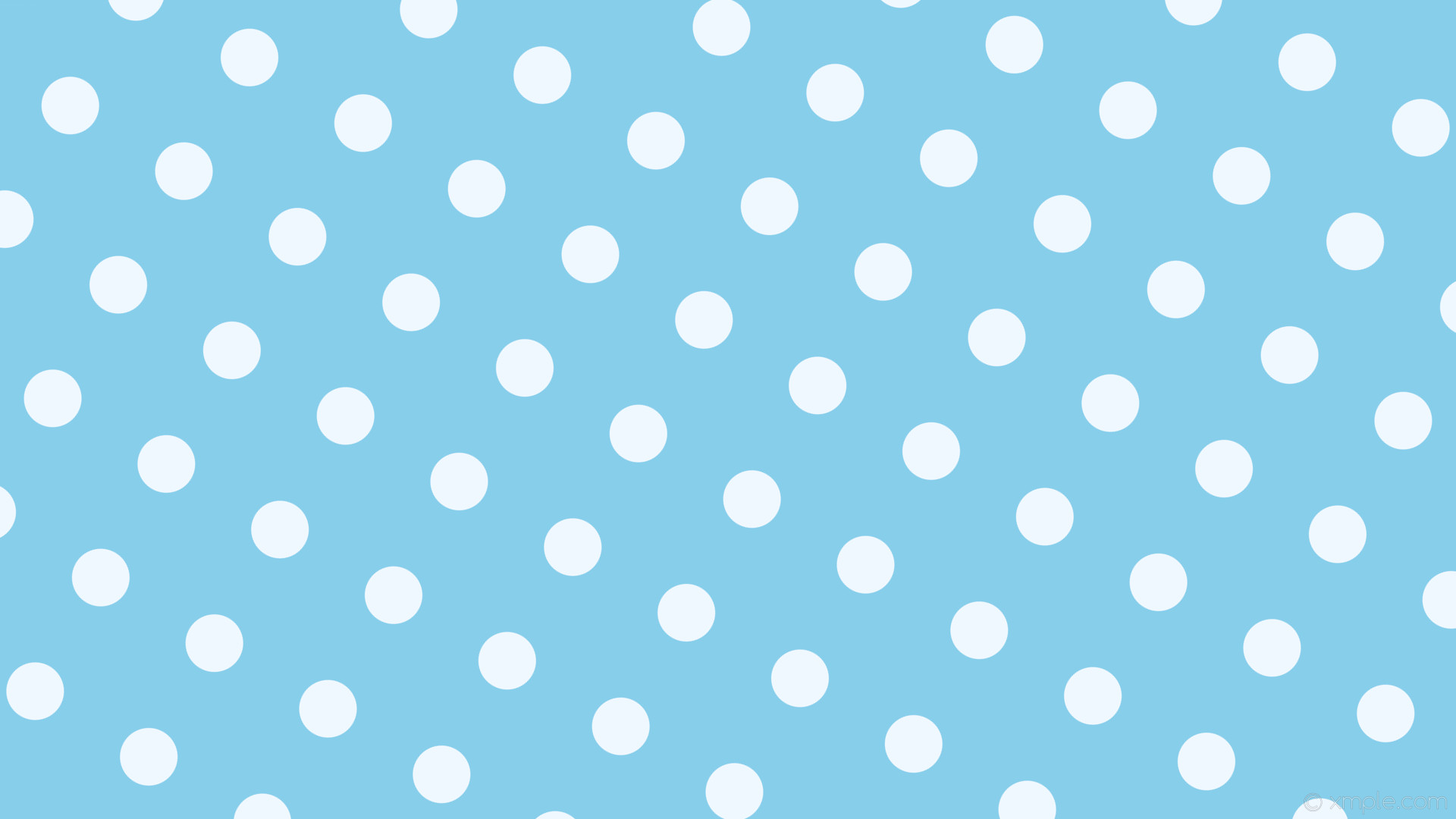 wallpaper dots spots white blue polka sky blue alice blue #87ceeb #f0f8ff  150°
