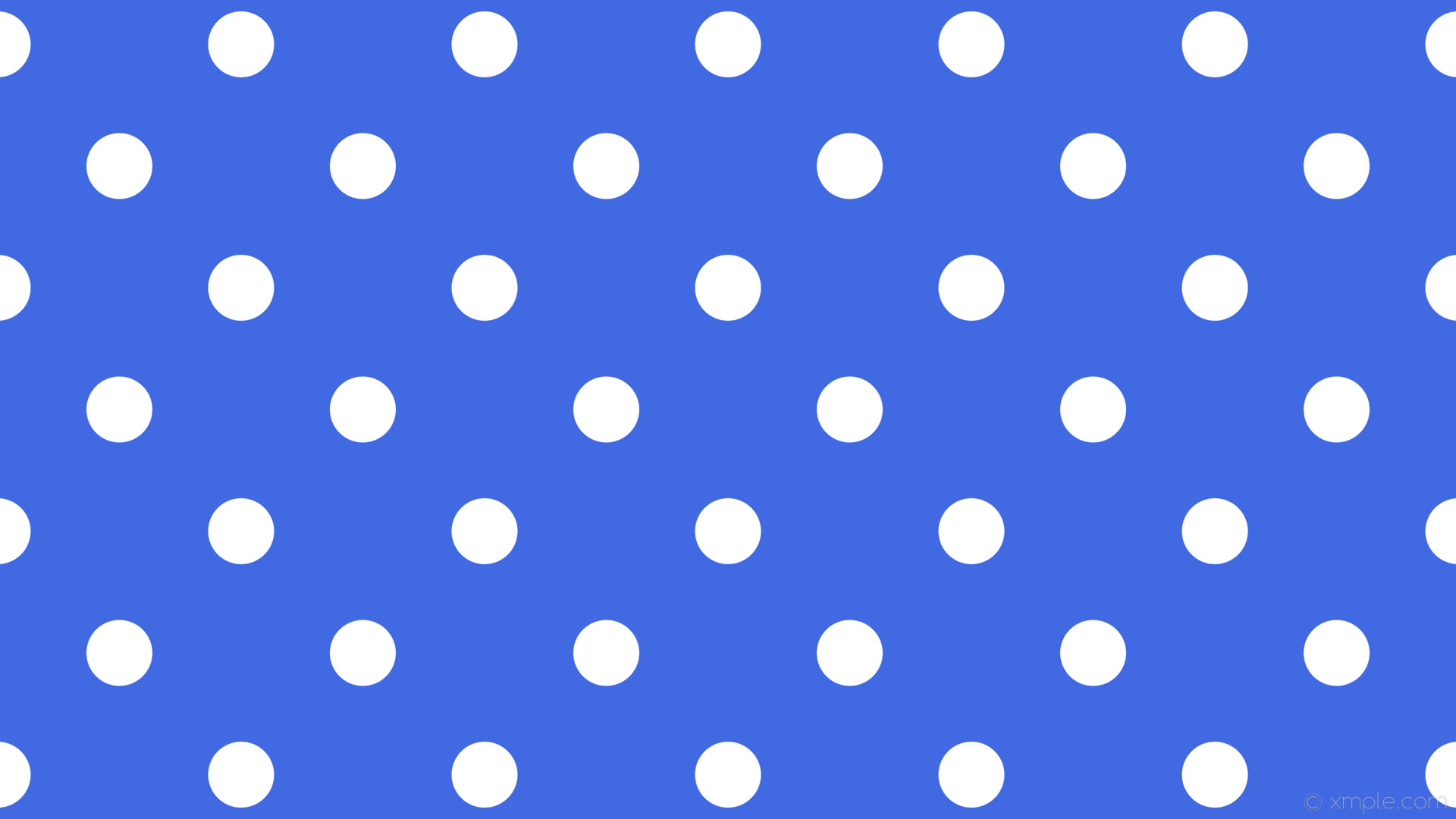 wallpaper dots polka white spots blue royal blue #4169e1 #ffffff 315° 87px  227px