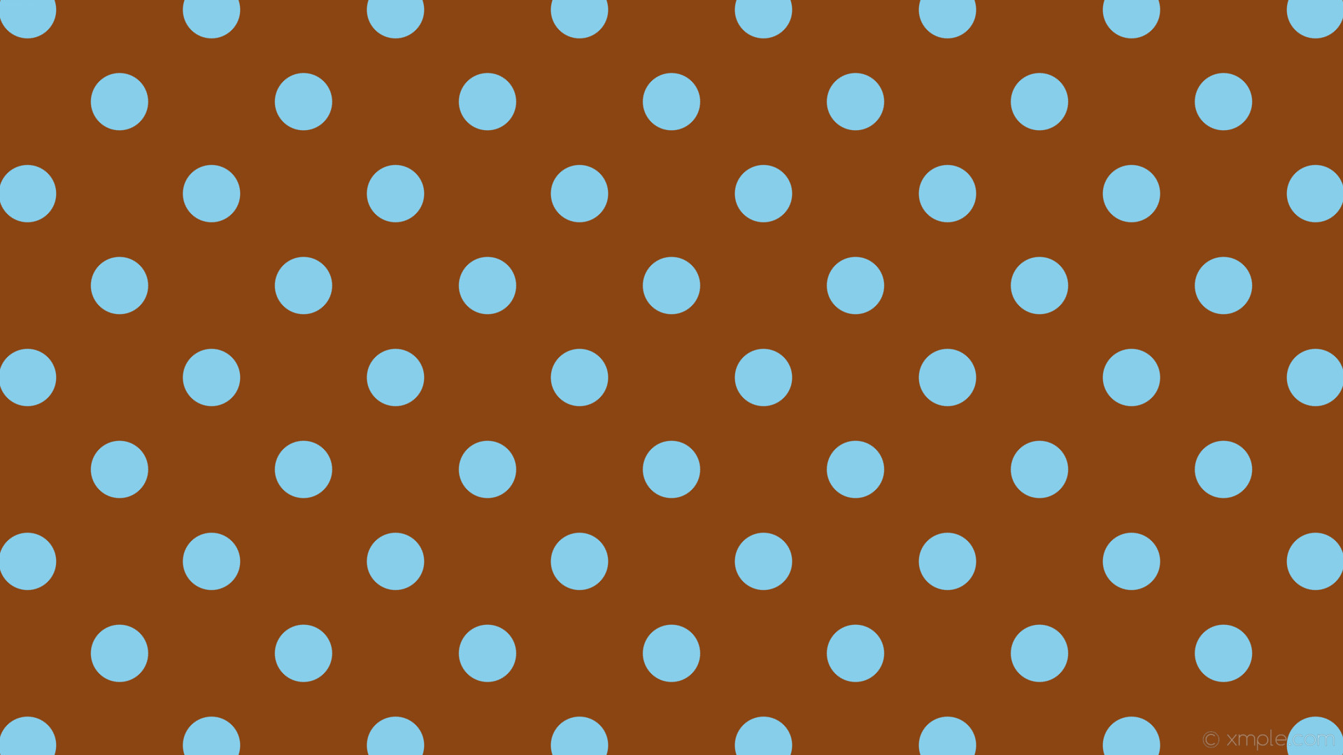 wallpaper spots brown blue dots polka saddle brown sky blue #8b4513 #87ceeb  135°
