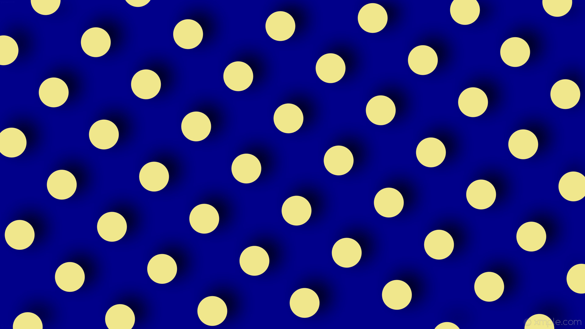 wallpaper dots drop shadow blue yellow polka dark blue khaki #00008b  #f0e68c 50°