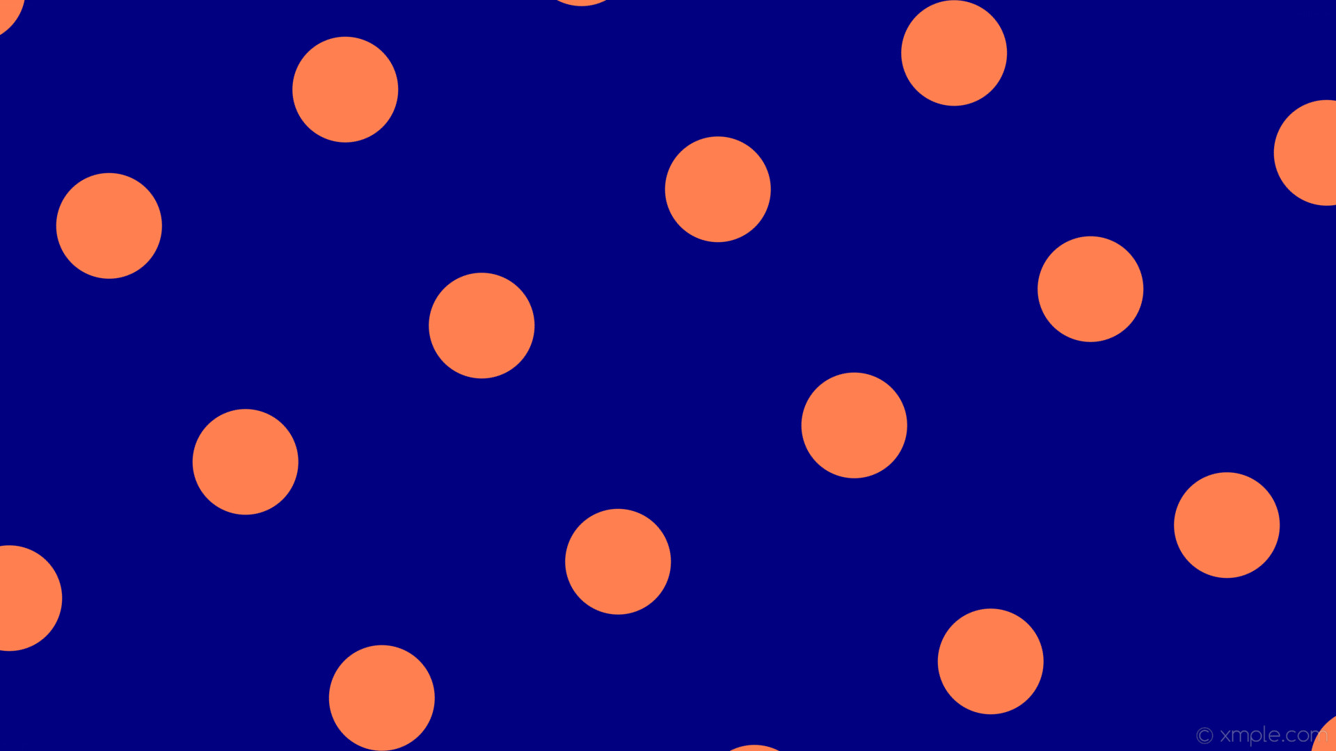 wallpaper orange spots blue polka dots navy coral #000080 #ff7f50 120°  152px 392px