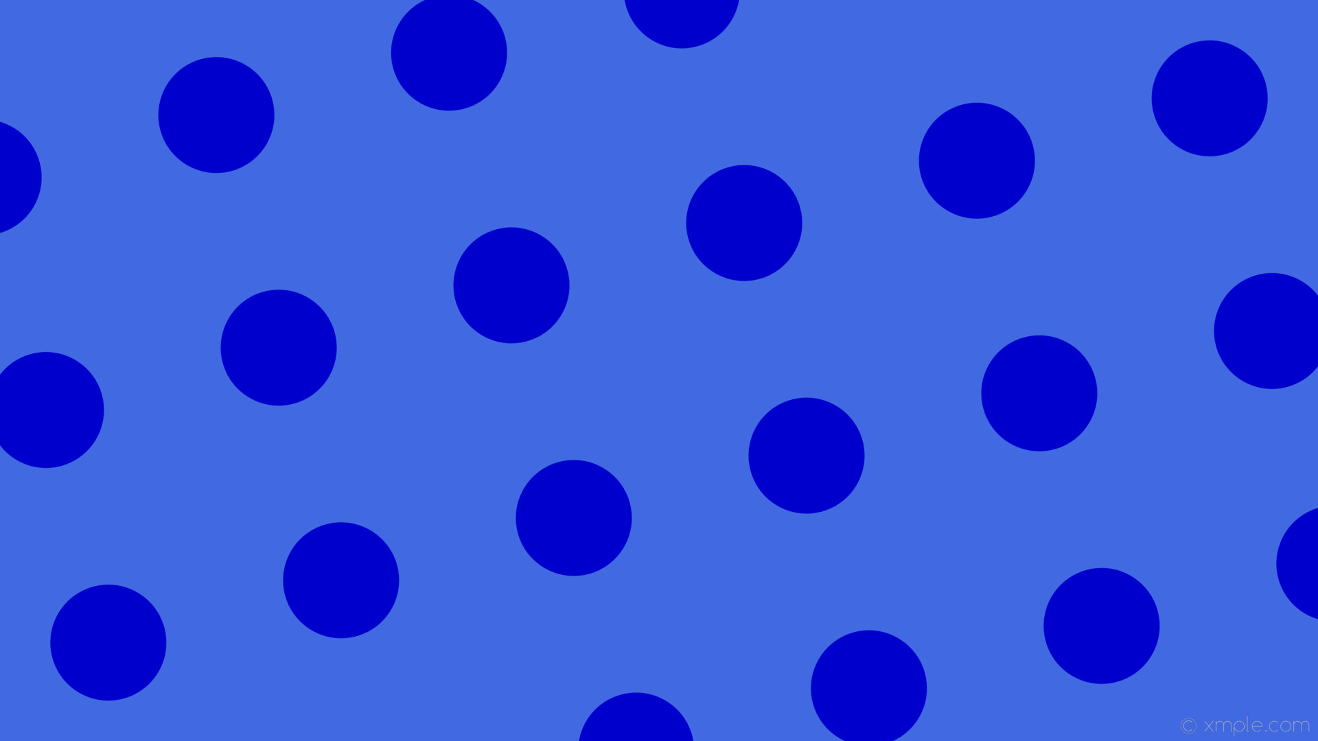 wallpaper blue polka dots spots royal blue medium blue #4169e1 #0000cd 285°  169px
