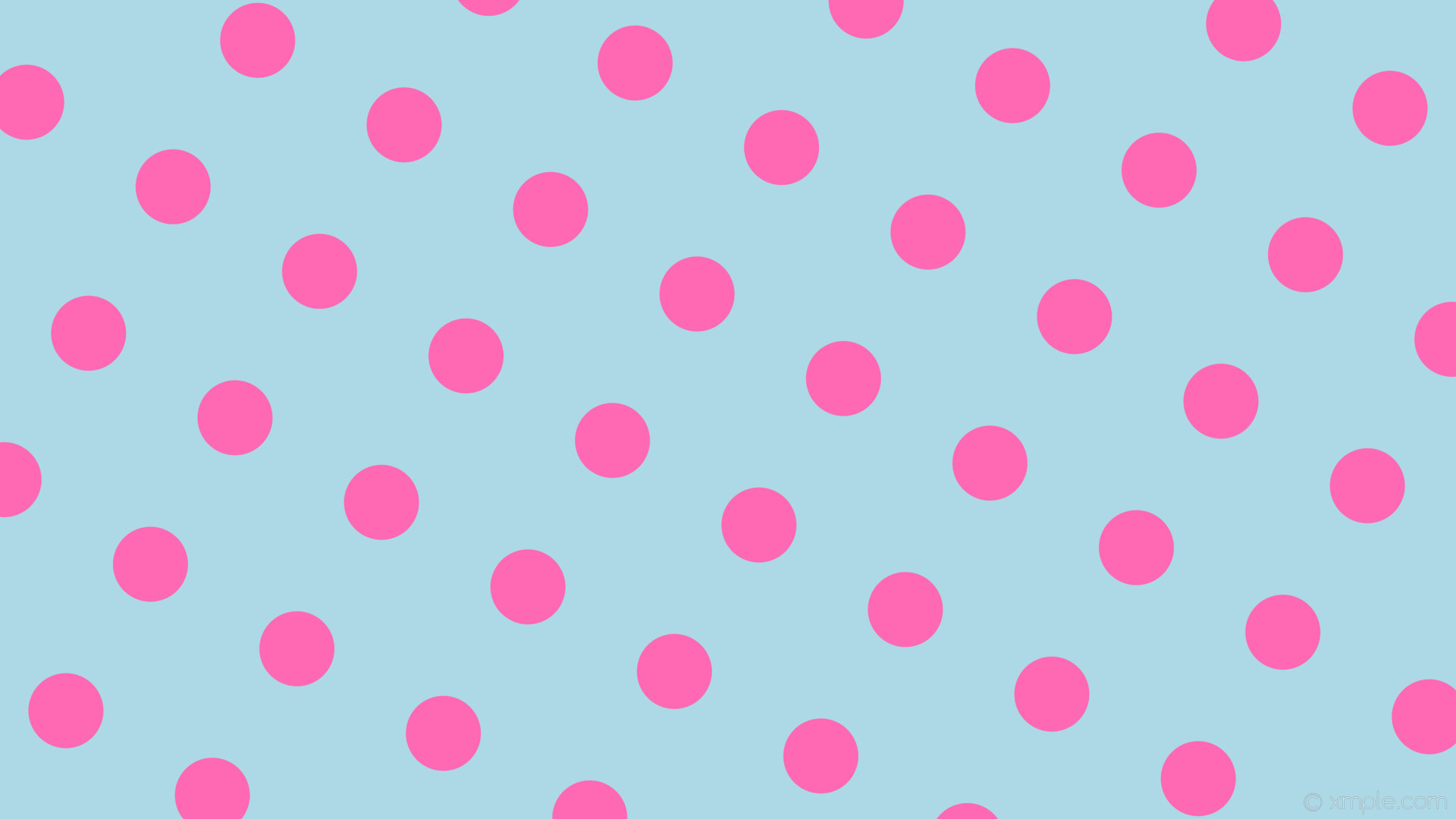 wallpaper pink blue dots polka spots light blue hot pink #add8e6 #ff69b4  150°