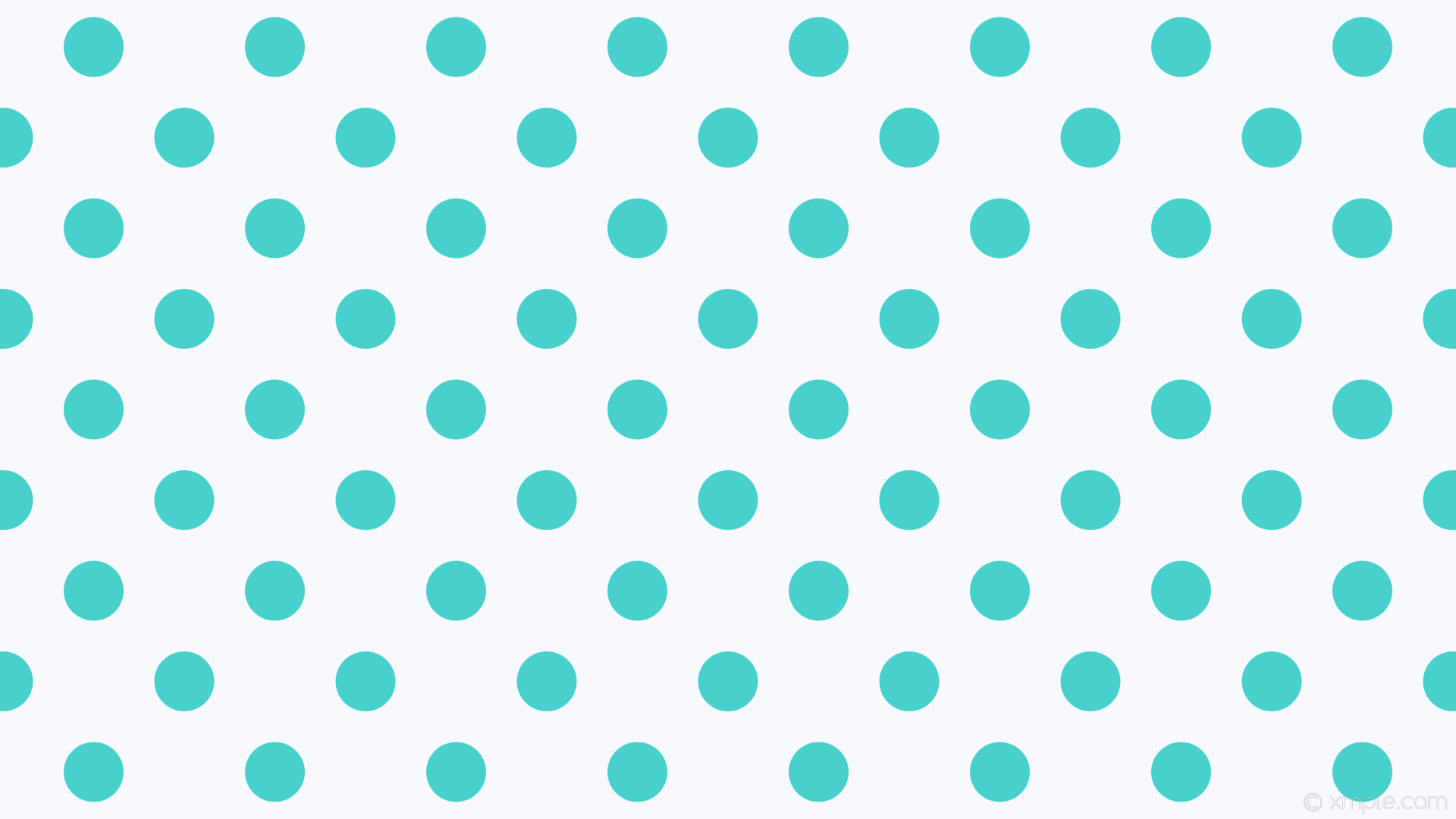 wallpaper white polka dots blue spots ghost white medium turquoise #f8f8ff  #48d1cc 315°