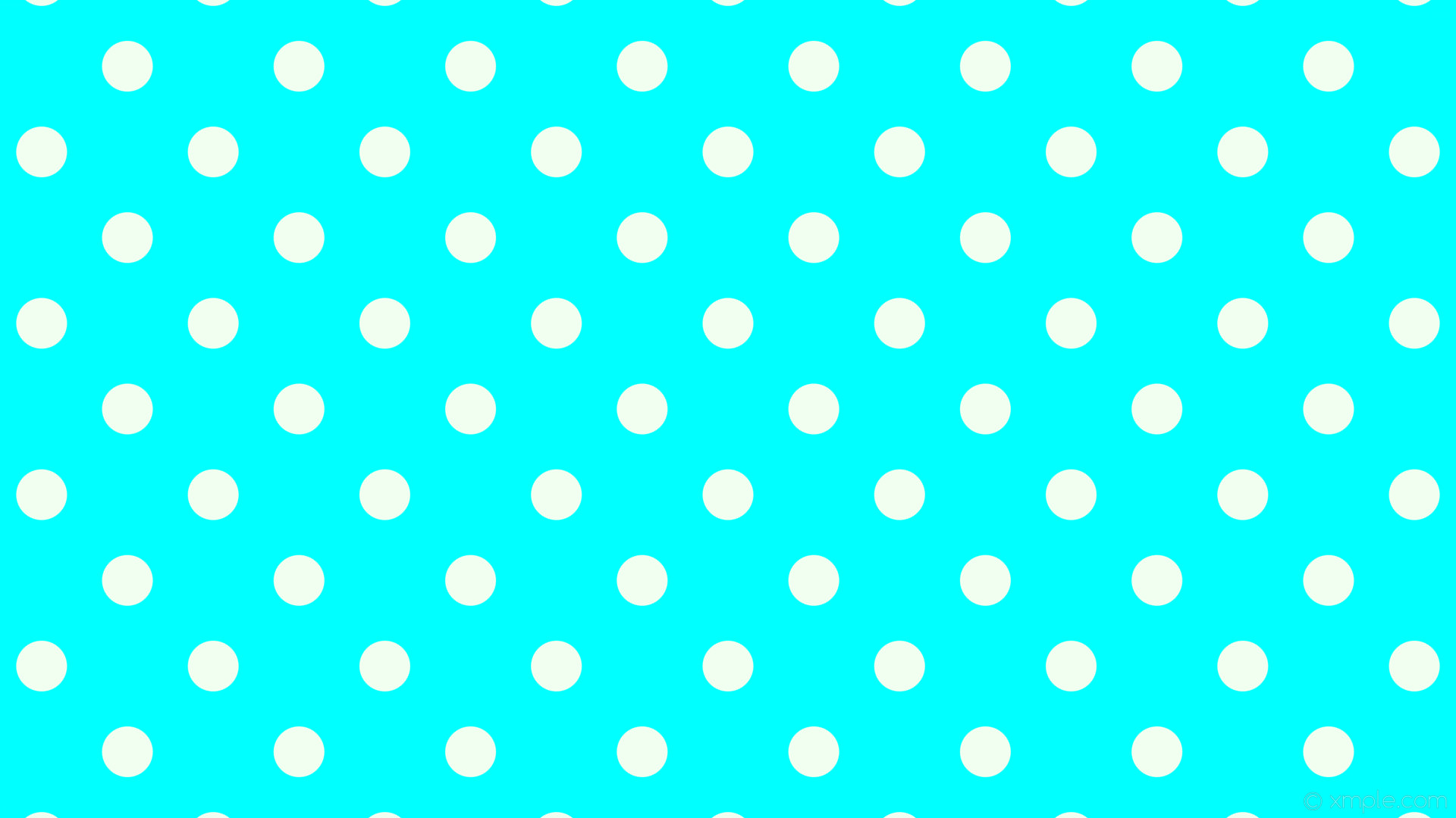 wallpaper white spots blue polka dots aqua cyan honeydew #00ffff #f0fff0  135° 67px