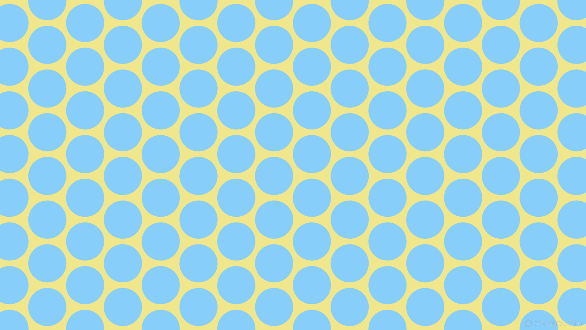 wallpaper yellow blue polka dots hexagon khaki light sky blue #f0e68c  #87cefa diagonal 30