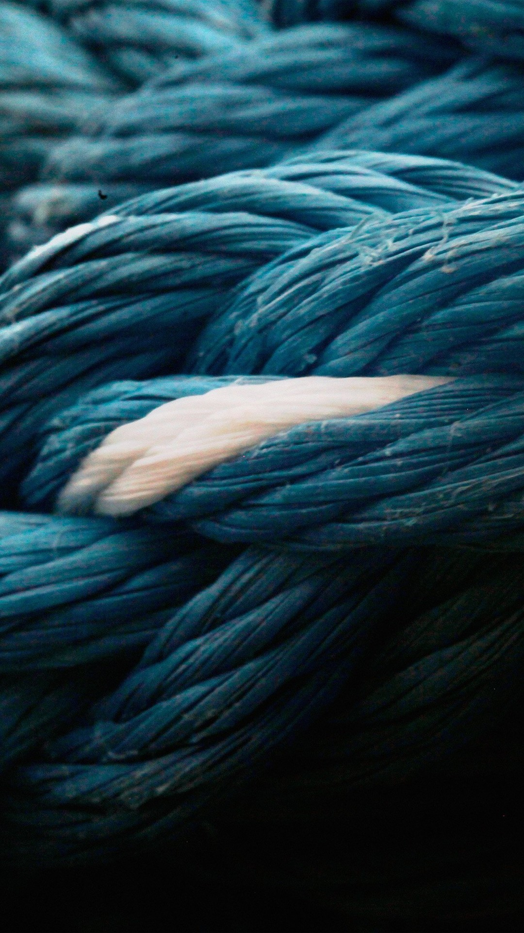 Rope Blue Knot Texture #iPhone #7 #wallpaper