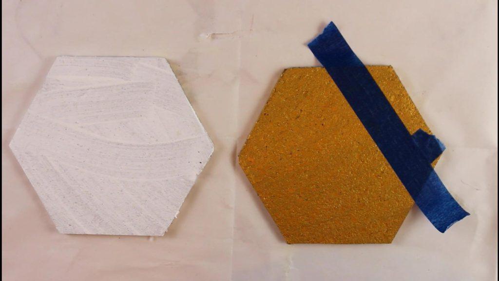 diy hexagon cork board