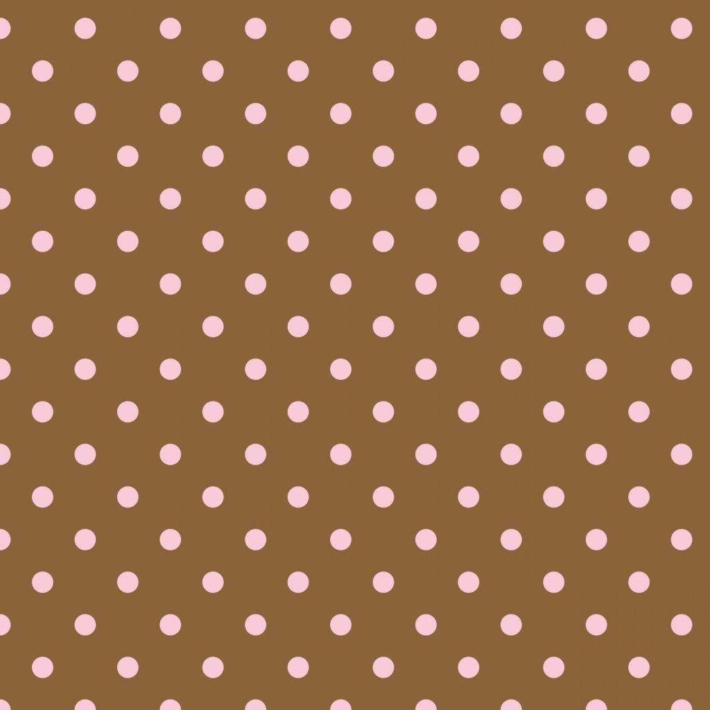 Polka dots in brown and pink wallpaper background