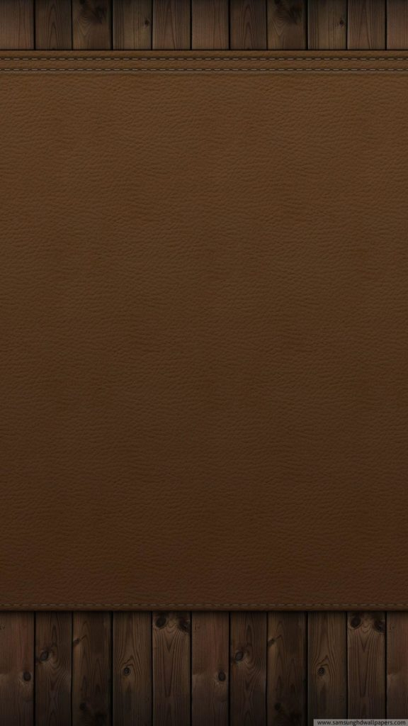 Wood and leather wall HD Samsung S4 wallpaper