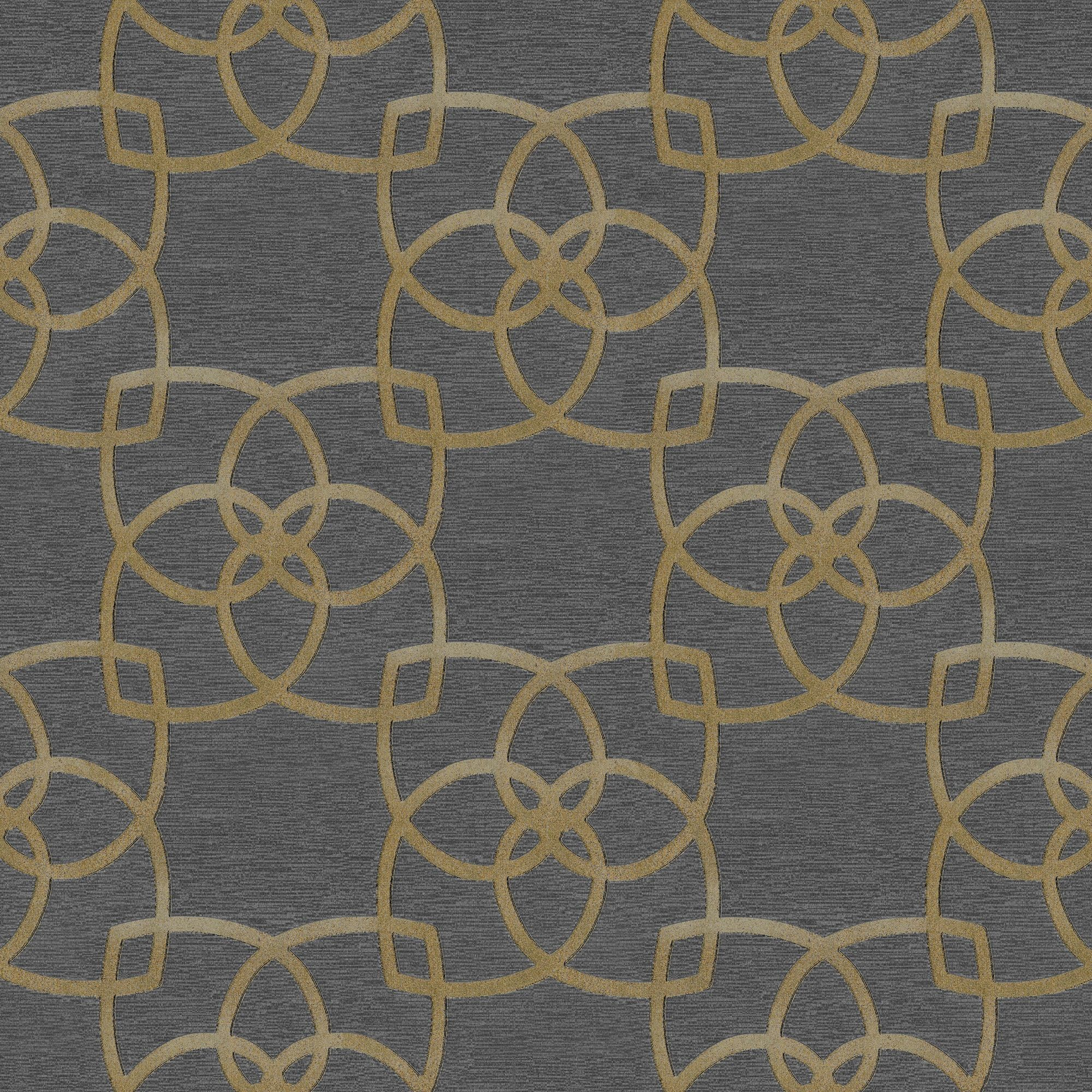 Muriva Precious Silks Warm Gold & Silver Geometric Metallic Wallpaper