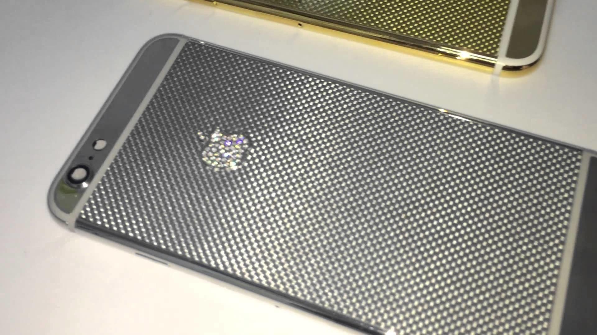 luxury 24kt gold carbon fiber iphone 6 housing