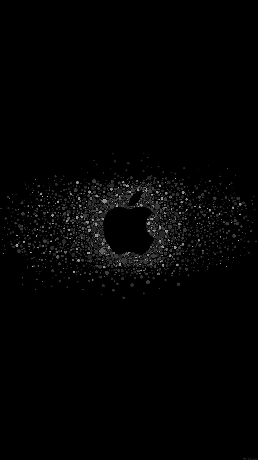 Logo Art Apple Rainbow Minimal Dark #iPhone #6 #plus #wallpaper