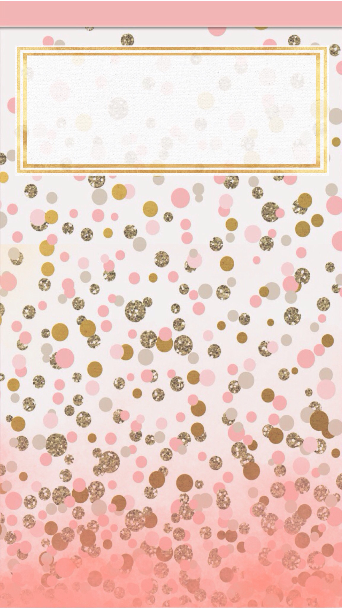 Pink and gold dots